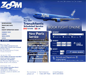 Zoom Airlines company